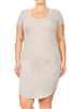 SOLID SCOOP NECK PLUS DRESS-RS-187X-HEATHER