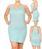 SOLID SLEEVELESS PLUS TANK DRESS-RS-188X-BLUE (6 pc)