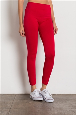 Fleece Leggings-SG-L06-Red