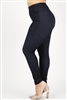 Plus size pull-on Silhouette Stretchy Denim Jeggings SLB-818-NAVY