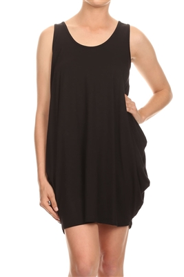 Sleeveless Basic solid dresses SLD-2005-Black