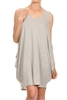 Sleeveless Basic solid dresses SLD-2005-H-Grey