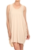 Sleeveless Basic solid dresses SLD-2005 Sand