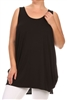 Sleeveless Basic solid dresses SLD-2005X-Black