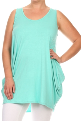 Sleeveless Basic solid dresses SLD-2005X-Mint