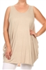Sleeveless Basic solid dresses SLD-2005X-Taupe