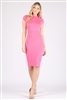 Cap Sleeve Solid dresses SLD-2008-Pink