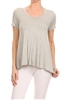 Basic Solid Loose fit top SLT-1007-Grey
