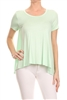 Basic Solid Loose fit top SLT-1007-Mint