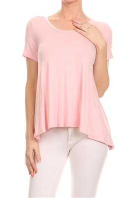 Basic Solid Loose fit top SLT-1007-Pink