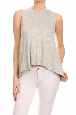 Basic Solid Loose fit top SLT-1008-Grey