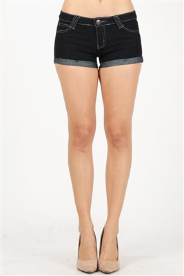 5 Pocket classic Hot Denim Shorts SP102-Black