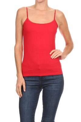 BASIC SOLID Knit Tank TOP ST-006-Red