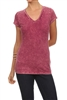 Mineral Washed Tee Burgundy (Top-T1)