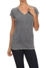Mineral Washed Tee Charcoal (Top-T1)