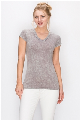 Mineral Washed Tee Lt. Gray (Top-T1)