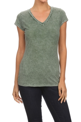 Mineral Washed Tee Teal (Top-T1)