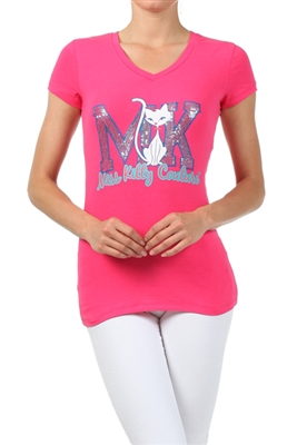 Wholesale Top V-103-FUSHIA