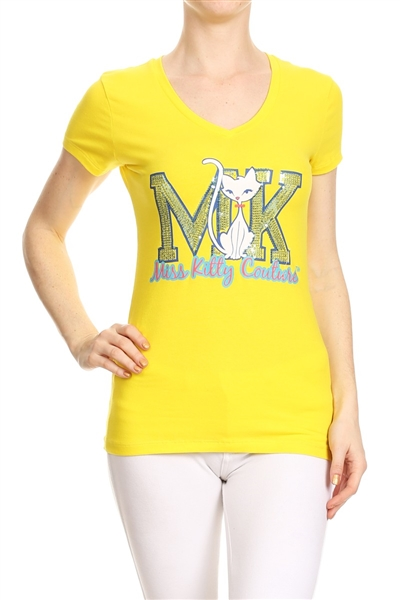 Wholesale Top V-103-YELLOW