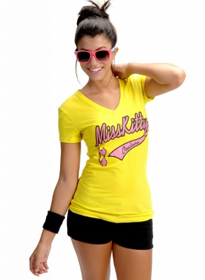Wholesale Top V-114-YELLOW