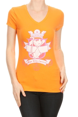Wholesale Top V-119-ORANGE