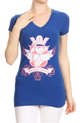 Wholesale Top V-119-ROYAL