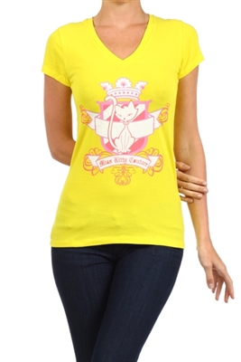 Wholesale Top V-119-YELLOW