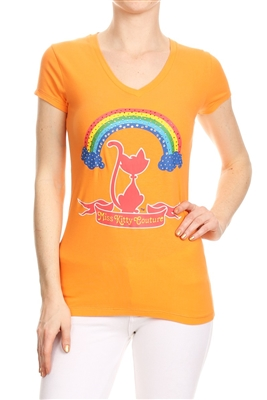 Wholesale Top V-128-ORANGE