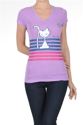 Wholesale Top V-135-LAVENDER
