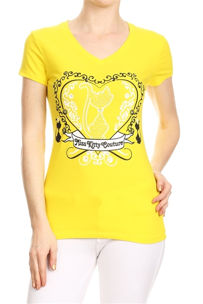 Wholesale Top V-201-YELLOW