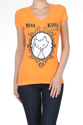 Wholesale Top V-204-ORANGE