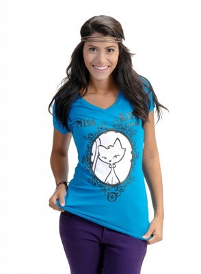 Wholesale Top V-204-Turquoise