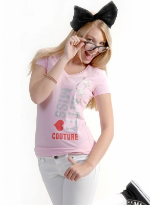 Wholesale Top V-208-PINK