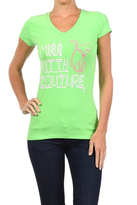 Wholesale Top V-211-LIME