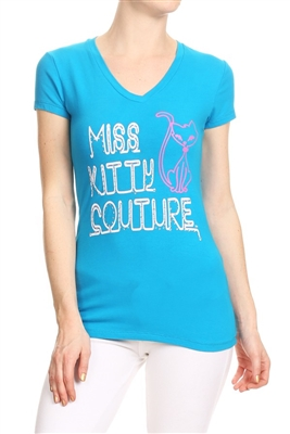 Wholesale Top V-211-Turquoise