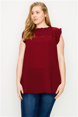 wholesale plus size tops smocked tops