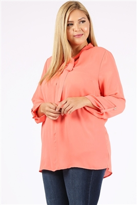 Wool Dobby Plus Top WT809X-Coral(6 PC)
