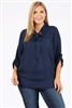 Wool Dobby Plus Top WT809X-Navy-(6 PC)
