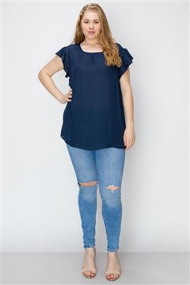 Wool Dobby Plus Top WT813X-Navy(6 PC)