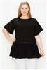 wholesale plus size tops ruffled tops