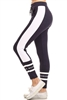 Knit Color block Print Stretch Jogger Sweatpants Y1053-NAVY (10 PC)