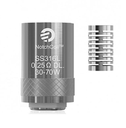 Cubis Notch Coil SS316 .25Ohm Single