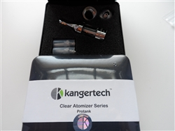 Kanger Pro Tank Glassomizer w/ 2- 2.1-2.3Ohm Coils - Red Glass
