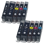 INK CARTRIDGES CANON PGI-5 & CLI-8 COLOR & BLACK  Set FOR canon pixma PRINTERs
