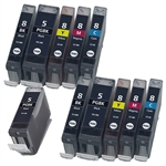 11 Canon pgi-5 cli-8 ink cartridges