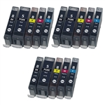 15 Canon PGI-5 & CLI-8 Ink cartridges