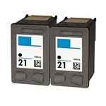 Hewlett Packard HP 21 Ink Cartridge, Black, Remanufactured