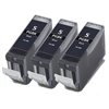 3 Pack CANON PGI-5 Black  Remanufactured  Ink Cartridge