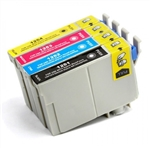 Epson 125 ink cartridges, 4 Color Pack Remanufactured Ink Cartridges (Black,Magenta,Cyan,Yellow) (T125120,T125220,T125320,T125420)
