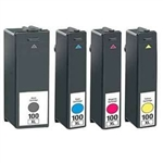 Lexmark 100XL Ink, Set of 4 Compatible Ink for Lexmark S301 S305 Series